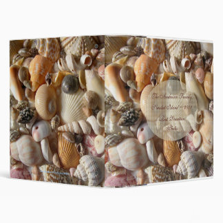 Seashell Family Vacation Album Vinyl Binder
