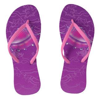 Seashell Flip Flops