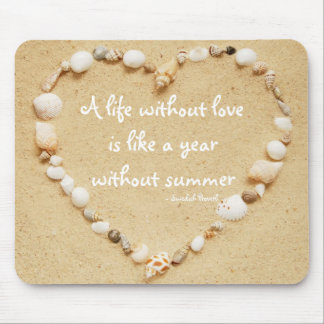 Seashell Heart Proverb Mousepad
