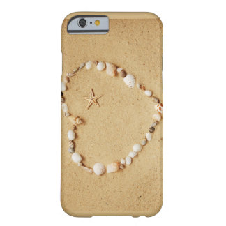 Seashell Heart with Starfish Barely There iPhone 6 Case