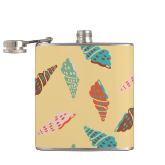 Seashell Hip Flask
