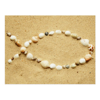 Seashell Ichthys Postcard
