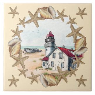 Seashell Lighthouse tile