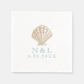 Seashell Nautical Beach Wedding | Bridal Shower Disposable Napkin
