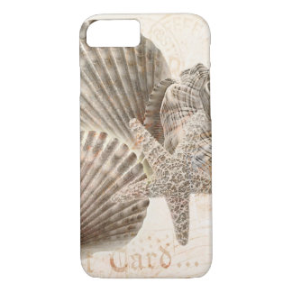Seashell nautilus vintage starfish background iPhone 7 case