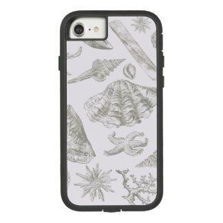 Seashell Ocean Beach Art Print Vintage Pattern Case-Mate Tough Extreme iPhone 8/7 Case