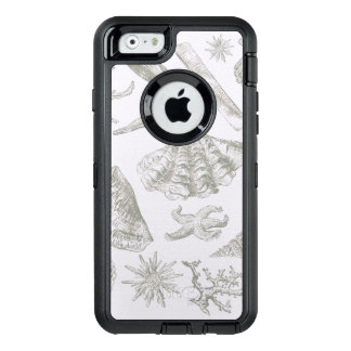 Seashell Ocean Beach Art Print Vintage Pattern OtterBox Defender iPhone Case