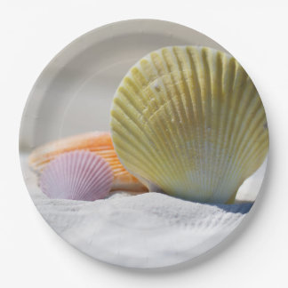 "SeaShell Paper Plates 9"""
