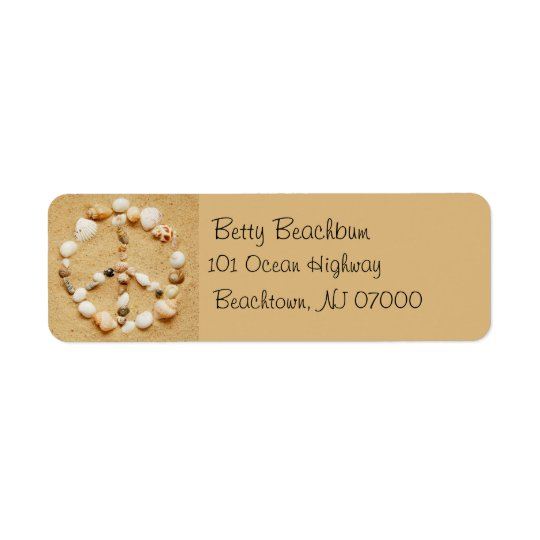 Seashell Peace Sign Address Labels