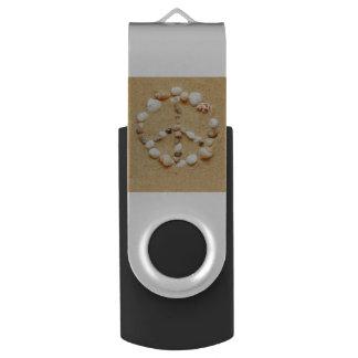 Seashell Peace Sign USB Flash Drive
