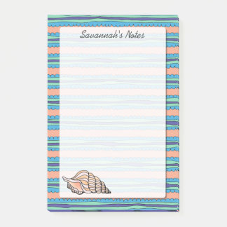 Seashell Personalized 4 x 6 Post-it® Notes