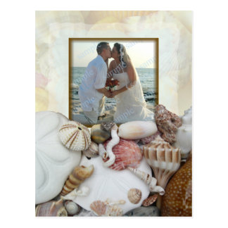 Seashell Photo Frame Wedding Party Invitation Postcard