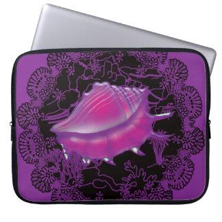 Seashell Purple Laptop Sleeve