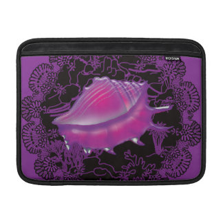 Seashell Purple MacBook Sleeve