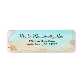 Seashell Return Address Stickers