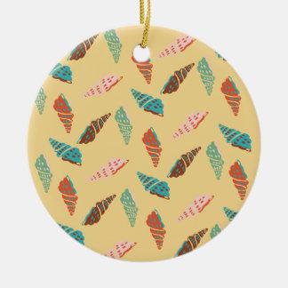 Seashell Round Ceramic Ornament