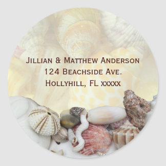 Seashell Sea Urchin Address Label