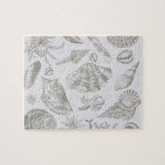 Seashell Soft Antique Art Print Beach House Puzzles