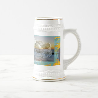 Seashell & Surf - Cape Cod Massachusetts Beer Stein