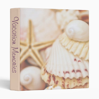 "Seashell Vacation Memories 1"" Photo Album Vinyl Binder"