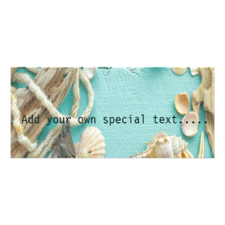 seashell,vintage,collage,turquoise,chic,trendy,fun rack card template