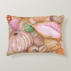 Seashell watercolor pillow