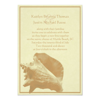 Seashell/ Wedding Card