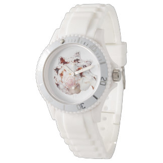 Seashell White Silicon Sporty Women's Watch