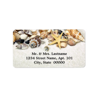 Seashells Address Labels