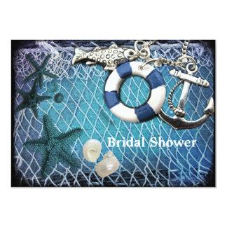 seashells anchor beach wedding bridal shower personalized invites