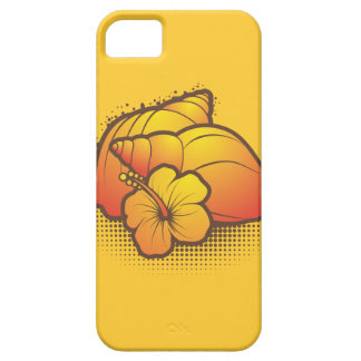 seashells and palmtree 2 orange case for the iPhone 5