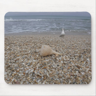 Seashells and Sea Gulls Mouse Pad