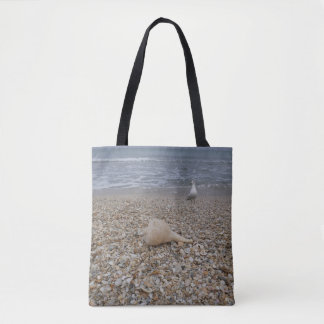 Seashells and Sea Gulls Tote Bag