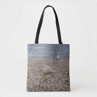 Seashells and Sea Gulls Tote Bag