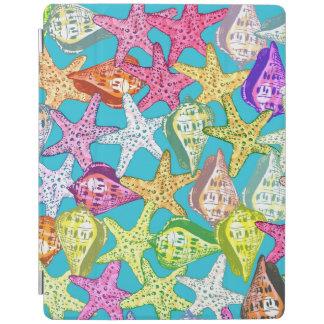 Seashells and sea stars iPad cover