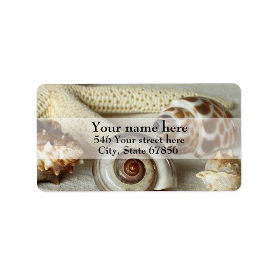 Seashells and Starfish Address Labels