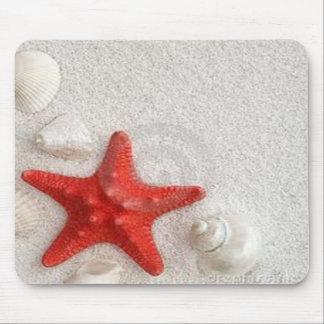seashells and starfish mouse pad