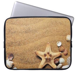 Seashells and Starfish on Beach Computer Sleeve