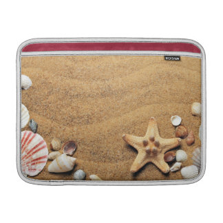 Seashells and Starfish on Beach MacBook Air Sleeves