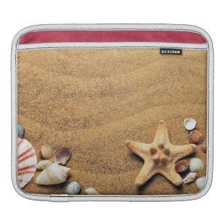 Seashells and Starfish on Beach Sleeve For iPads