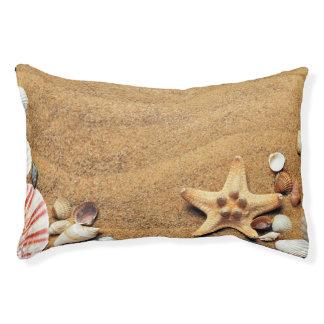 Seashells and Starfish on Beach Small Dog Bed