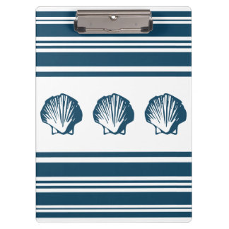 Seashells and stripes clipboard