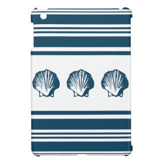 Seashells and stripes iPad mini cover