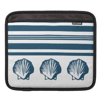 Seashells and stripes iPad sleeves