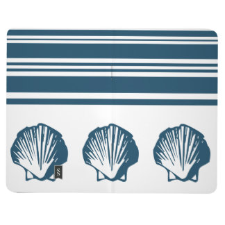 Seashells and stripes journal