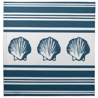 Seashells and stripes napkin