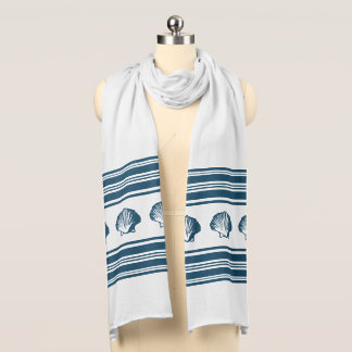 Seashells and stripes scarf