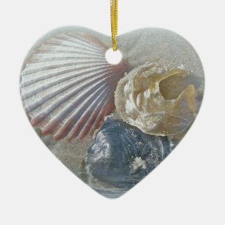 Seashells and Surf Ceramic Ornament