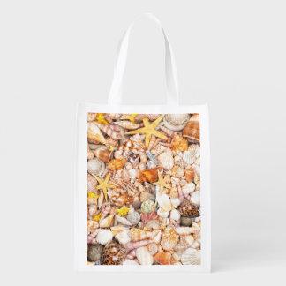 Seashells Background Market Tote