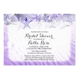 Seashells beach bridal shower invites seashell1